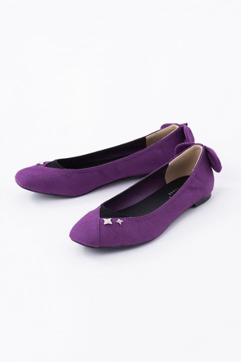 忍たま乱太郎 パンプス 四年生 紫色
